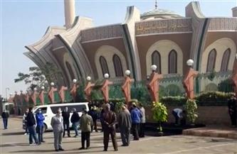 وصول جثمان هادي الجيار لمسجد الشرطة
