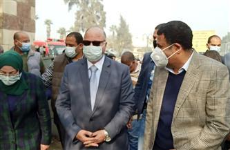 محافظ القاهرة يتفقد إزالة منطقة المسبح العشوائية في السيدة عائشة