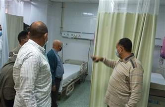 تشكيل لجنة لمراجعة الاشتراطات البيئية لمخازن أسطوانات الأكسجين بمستشفى القصير| صور