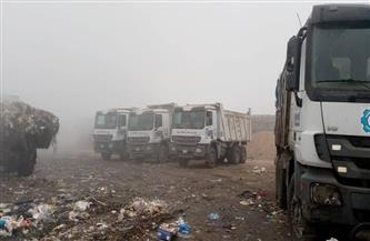 نقل 333 طنا من مخلفات القمامة بالمحلة الكبرى إلى المدفن الصحي بالسادات| صور