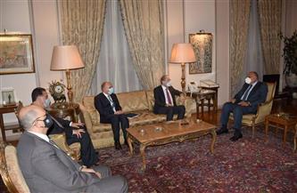 وزير الخارجية يبحث مع نائب رئيس الوزراء الأردني المستجدات الإقليمية والدولية   صور
