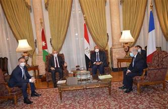 بدء الاجتماع الرباعي لوزراء خارجية مصر والأردن وفرنسا وألمانيا | صور