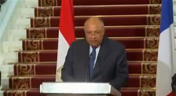 شكري: مصر تتطلع للعمل مع الشركاء الدوليين لإحراز تقدم يتجاوز مرحلة الجمود التي مرت بها عملية السلام