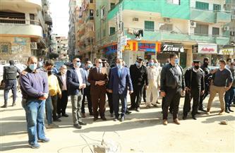 محافظ كفر الشيخ يتفقد أعمال التطوير بالمحاور الجديدة ويتابع تطبيق الإجراءات الاحترازية|صور