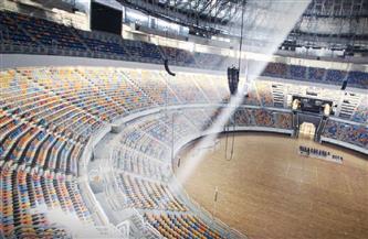 صالة إستاد القاهرة تتزين لاستضافة حفل افتتاح مونديال كرة اليد | فيديو