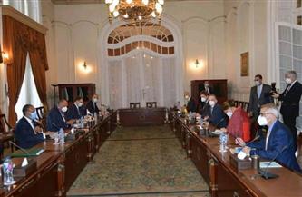 وزير الخارجية يلتقي نظيره الألماني ويبحثان العلاقات الثنائية والقضايا الإقليمية