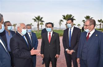 محافظ بورسعيد ووفد المنظمة العربية للتنمية الإدارية يتفقدون مشروع «بورتو سعيد» | صور