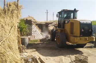 حملة لمواجهة مخالفات البناء والتعدي على الأراضي الزراعية غرب الأقصر | صور