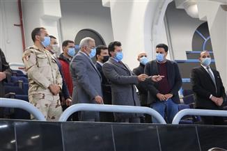 وزير الرياضة يتفقد ستاد القاهرة الدولي ويشهد بروفة افتتاح مونديال اليد| صور