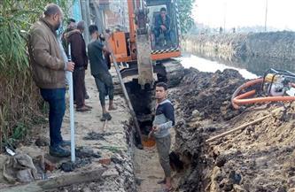محافظة دمياط: البدء في تنفيذ مشروع الصرف الصحي بقرية طبل  صور
