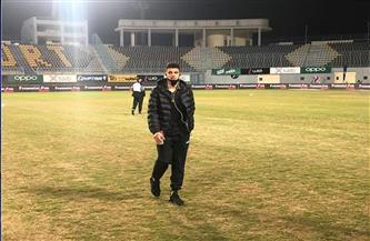 لاعبو الزمالك يعاينون أرضية إستاد برج العرب