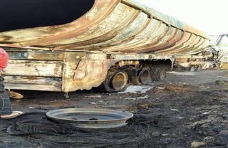 مصرع مواطن في انفجار تانك مواد بترولية بإحدى قرى السنبلاوين| صور