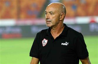باتشيكو يهنئ لاعبي الزمالك بالفوز على المصري