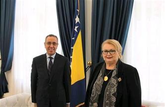 السفير ياسر سرور يناقش تعزيز العلاقات الثنائية مع وزيرة خارجية البوسنة والهرسك