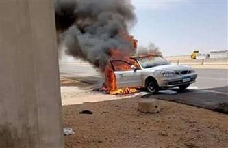 حريق سيارة ملاكى بطريق السويس دون خسائر بشرية