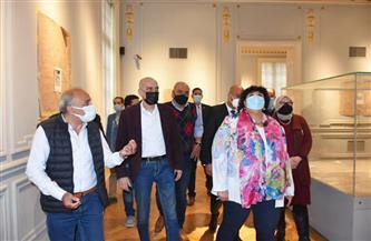 وزيرة الثقافة تتابع أعمال تطوير متحف محمود خليل وحرمه.. وافتتاحه إبريل المقبل | صور