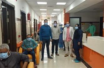 """خروج 12 حالة من مصابي """"كورونا"""" من عزل مستشفى كفرالزيات بعد تعافيهم"""