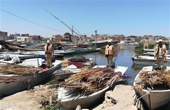 سرعة الرياح وارتفاع الأمواج توقف حركة الصيد في بحيرة البرلس