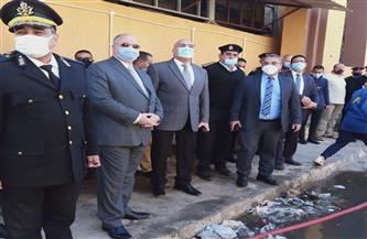 محافظ القاهرة يتفقد حريق مخازن وزارة الصحة في الوايلي دون إصابات