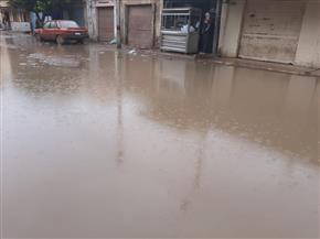 أمطار متوسطة على المراكز الشمالية بالبحيرة   صور