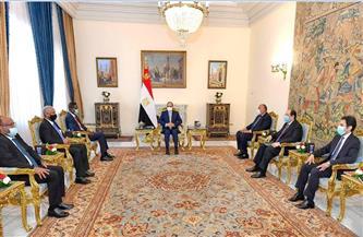 الرئيس السيسي يستقبل عضو مجلس السيادة الانتقالي السوداني