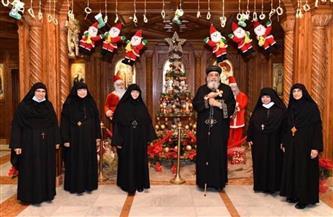البابا تواضروس يستقبل رئيسات أديرة الراهبات للتهنئة بعيد الميلاد |صور