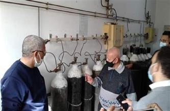 لجنة بيئية للتفتيش على تأمين الأكسجين بمستشفى جراحات اليوم الواحد بمرسى علم  صور