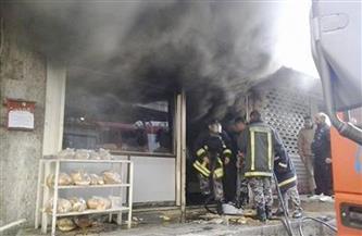 انتداب المعمل الجنائي لمعاينة حريق مخبز بالبدرشين