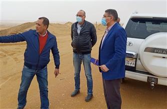 رئيس جهاز ٦ أكتوبر الجديدة يتابع أعمال خط المياه المغذي للميناء الجاف ورصف الطرق بمنطقة غرب المطار| صور