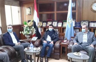 محافظ كفر الشيخ يستقبل وزير الشباب والرياضة في بداية زيارته للمحافظة