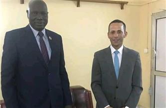 سفير مصر في جوبا يلتقي محافظ البنك المركزي الجنوب سوداني