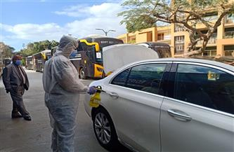 تعقيم وتطهير السيارات الخاصة بأحد فنادق مونديال اليد