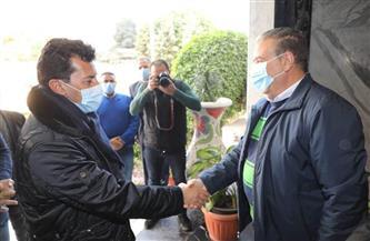 محافظ المنوفية يستقبل وزير الشباب والرياضة على هامش زيارته التفقدية لنادى سيتي كلوب |صور
