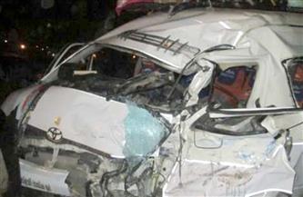 إصابة 4 أشخاص في حادث انقلاب سيارة بأسوان