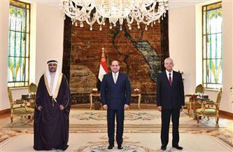 """الرئيس السيسي لـ""""العسومي"""": البرلمان العربي قوة دفع شعبية تساهم في ترسيخ الاستقرار"""