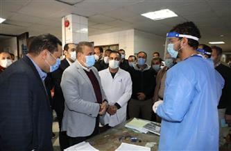 محافظ المنوفية: 50 ألف جنيه مكافأة للأطقم الطبية بمستشفى السادات المركزي | صور