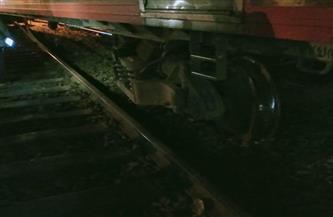 توقف قطار القاهرة - الإسكندرية لخروج عربة عن القضبان بمحطة طنطا   صور