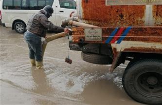 أمطار متوسطة بكفر الشيخ وجهود لشفط المياه المتراكمة بالشوارع | صور