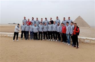 منطقة آثار الهرم تستقبل المنتخب السويسري لكرة اليد | صور