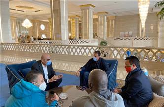 هشام نصر يلتقي رئيس الاتحاد الإفريقي لكرة اليد ورؤساء بعثات المنتخبات