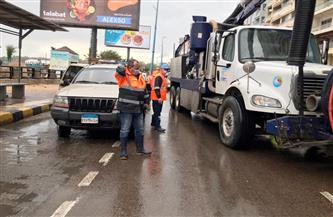 شركة الصرف الصحي بالإسكندرية تستعد لـ «نوة الفيضة» بسحب مياه الأمطار