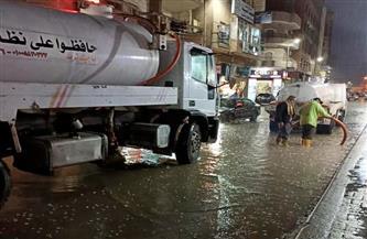 أمطار غزيرة بالبحيرة والمحافظة تعلن حالة الطوارئ   صور