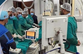 نجاح أول عملية توسيع للشريان الرئيسي الأيسر بقلب مسن بمستشفى النصر في بورسعيد | صور