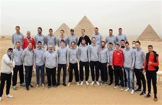 منتخب سويسرا في زيارة لأهرامات الجيزة قبل مباراة فرنسا الحاسمة