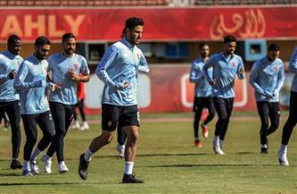 مران استشفائي للاعبي الأهلي المشاركين في مباراة «البنك الأهلي»