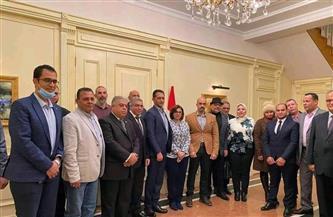 سفيرة مصر في طشقند تلتقي بعض أعضاء الجالية المصرية في أوزباكستان