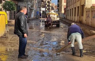 استمرار جهود رفع مياه الأمطار من شوارع مدن وقرى محافظة كفر الشيخ لليوم الثالث على التوالي   صور