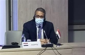 وزير السياحة والآثار يشارك في لجنة الأزمات بمنظمة السياحة العالمية بمدريد | صور