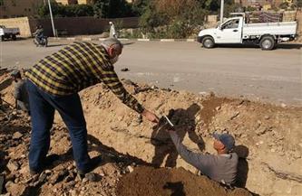 """رئيس مدينة الأقصر يوزع """"كمامات"""" على عمال المشروع القومي لتحويل السيارات باستخدام الغاز الطبيعي  صور"""
