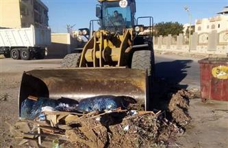 رفع 800 طن من المخلفات فى حملة نظافة بمدينة الغردقة   صور